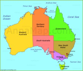 Australia Map Map Of Australia AnnaMapcom - Australia political map