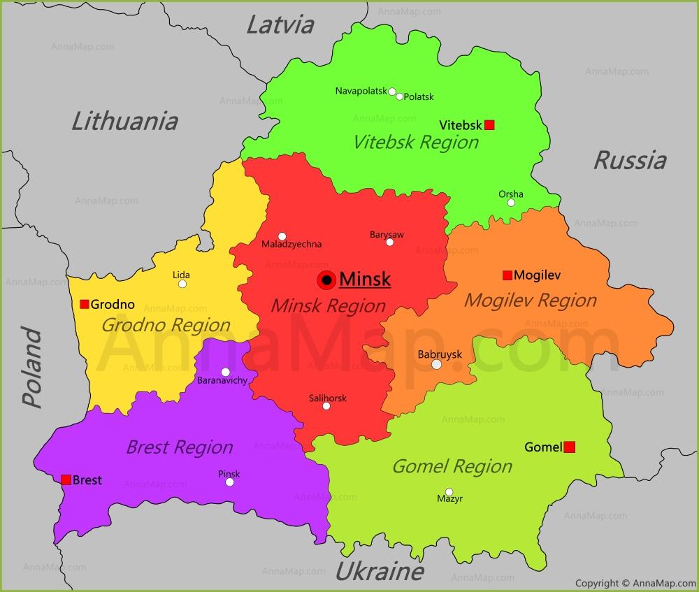 Belarus map map of belarus annamap belarus map gumiabroncs Choice Image