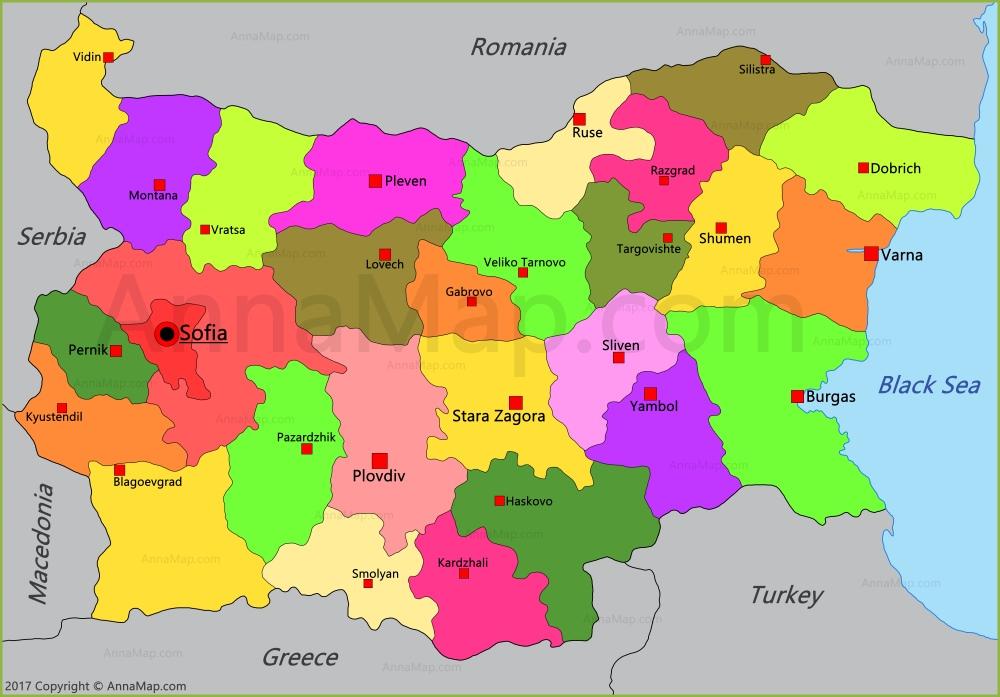 Bulgaria Map Map Of Bulgaria AnnaMapcom - Bulgaria map