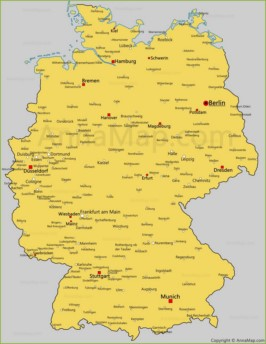 Map Of Germany With Cities.Germany Map Germany Political Map Annamap Com