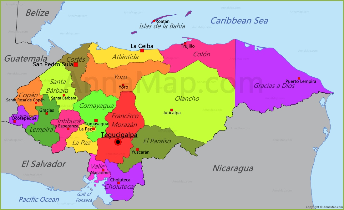 Honduras map map of honduras annamap honduras map gumiabroncs