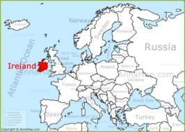 Map Of Europe Ireland.Ireland On The Europe Map Annamap Com