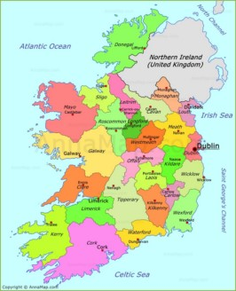 Ireland on the world map annamap ireland map ireland political map gumiabroncs