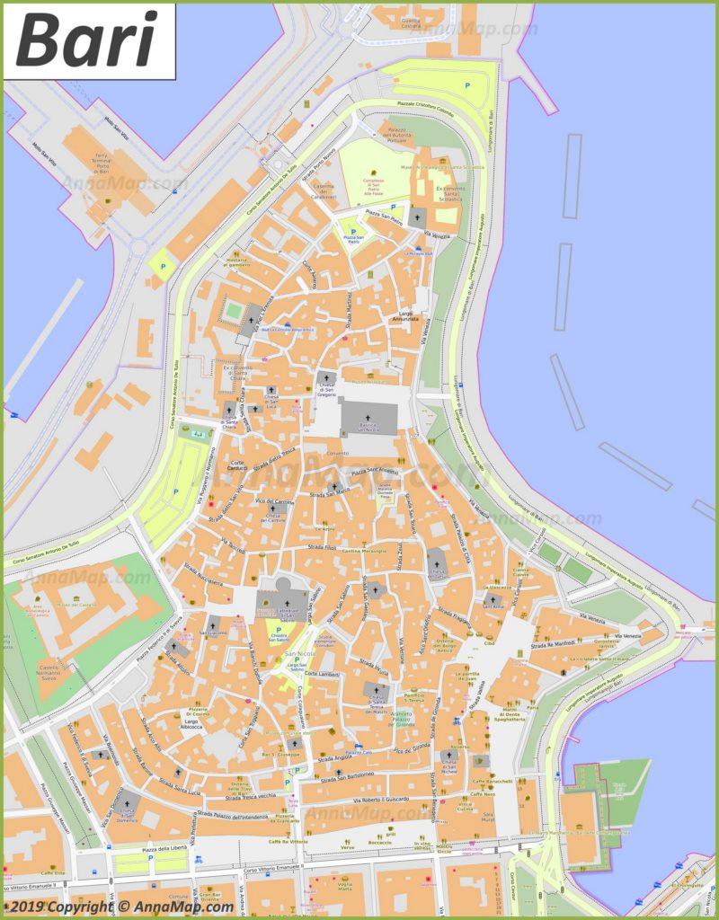 Mappa di Bari - Centro storico