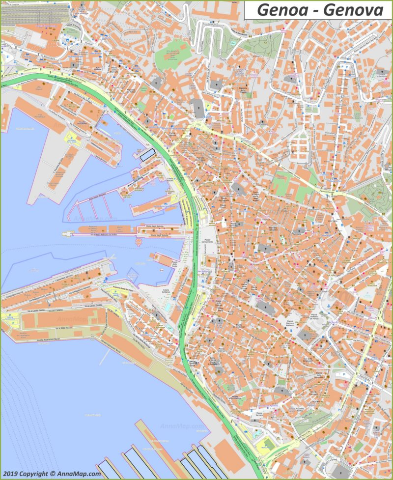 Mapa de Génova - Casco Antiguo
