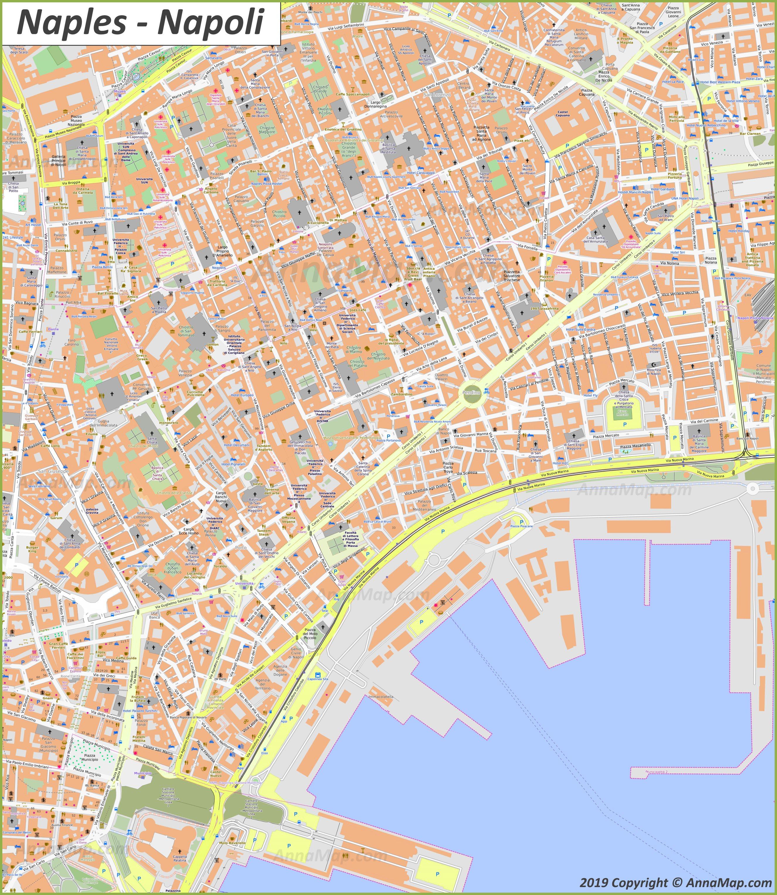 Cartina Stradale Di Napoli.Napoli Mappa