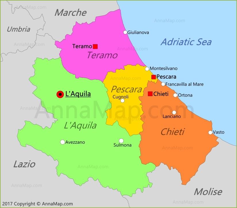 Abruzzo Map