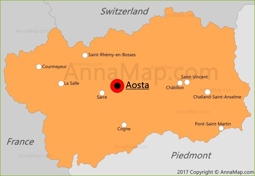 Aosta Valley Map