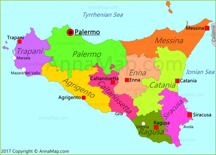Sicily On Map Of Italy.Sicily Map Italy Annamap Com