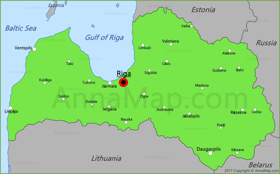 Latvia Map Map of Latvia AnnaMapcom