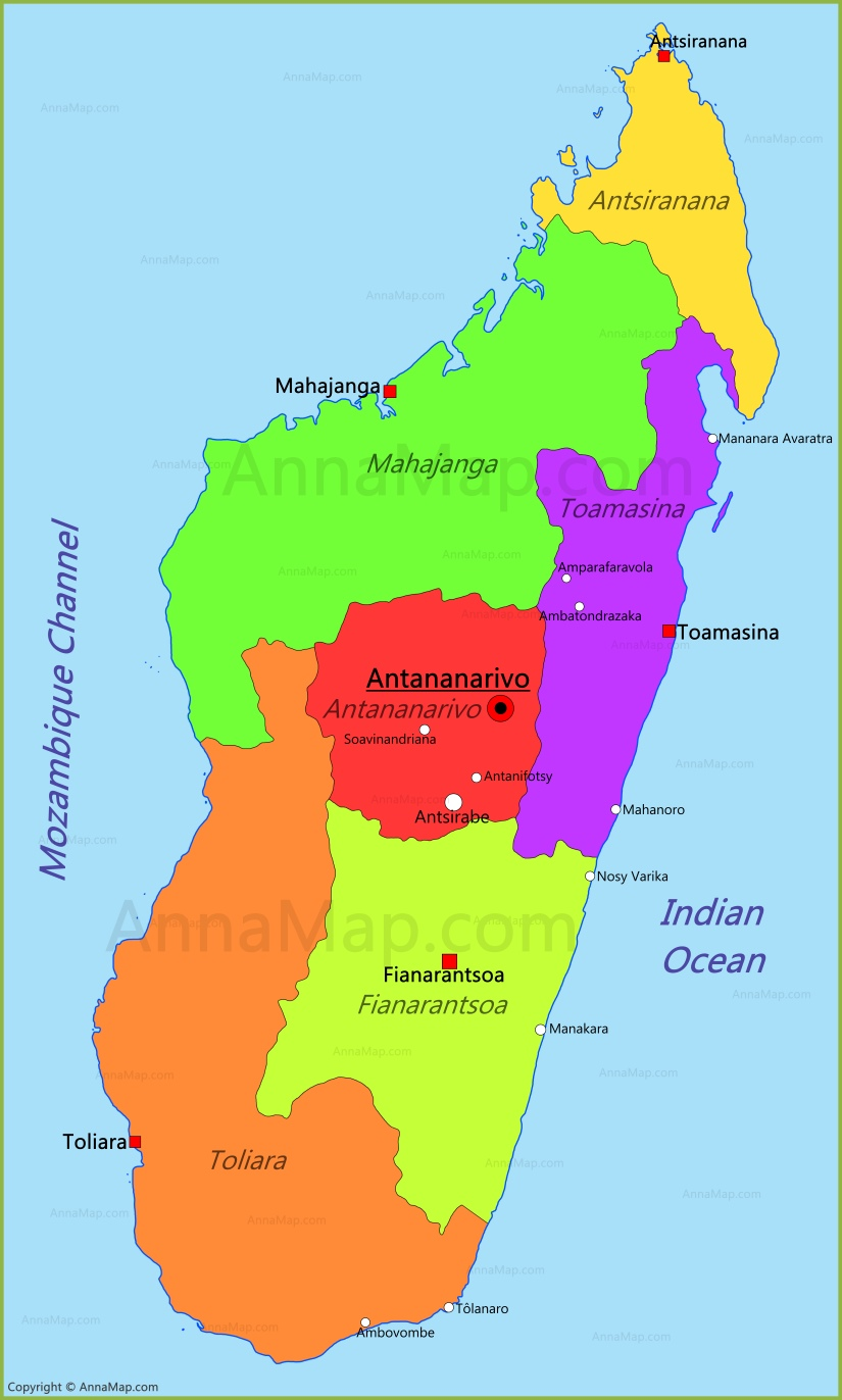 Madagascar Map Map Of Madagascar AnnaMapcom - Madagascar map