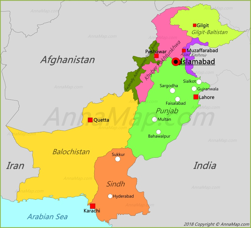 Islamabad Pakistan Map: Map Of Pakistan - AnnaMap.com