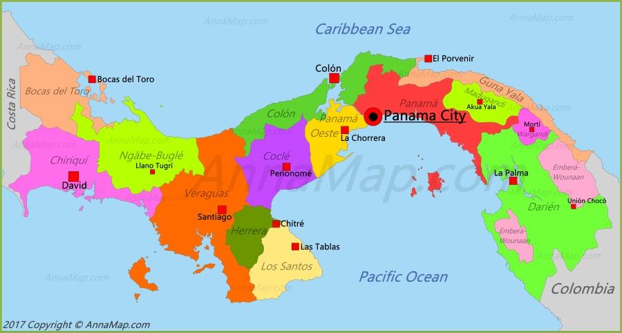 Panama Map Map Of Panama Annamap Com