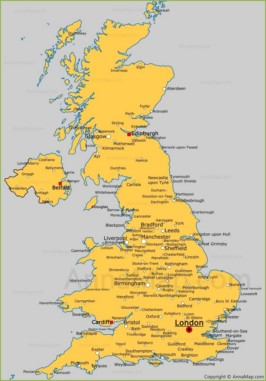 Political Map Of Great Britain.United Kingdom Map Uk Political Map Annamap Com