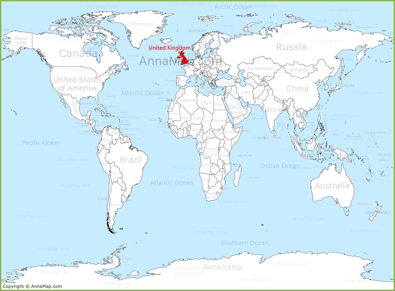 United Kingdom On The World Map Annamap Com