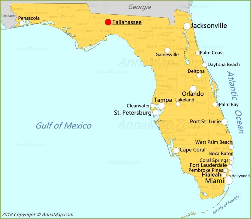 Florida Map.Florida Map United States Map Of Florida Annamap Com