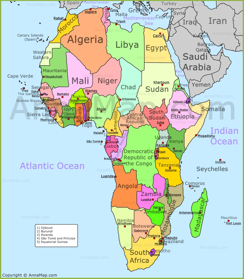 poltical map of africa Africa Map Political Map Of Africa With Countries Annamap Com poltical map of africa