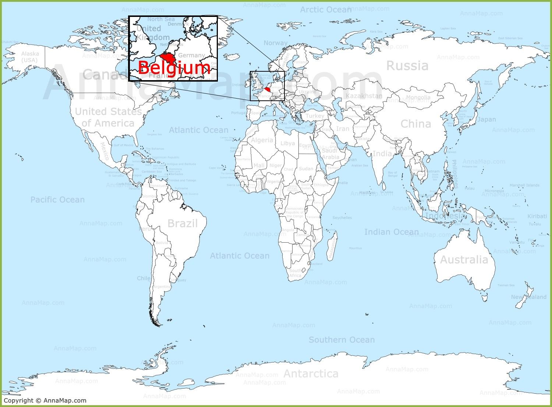 map of the world belgium Belgium On The World Map Annamap Com map of the world belgium