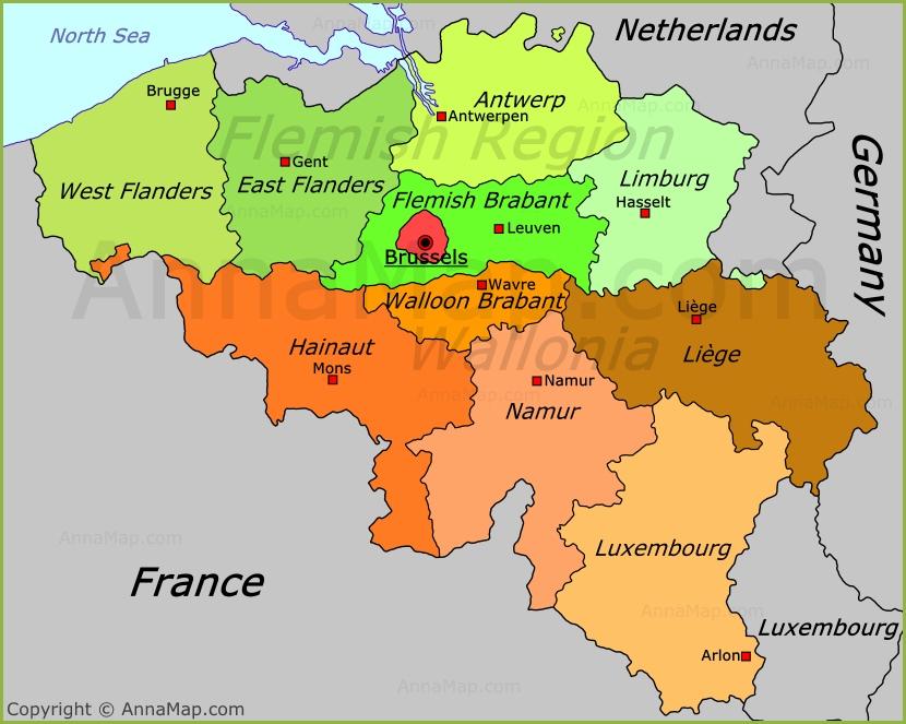 where is belgium on the world map Belgium Political Map Annamap Com where is belgium on the world map