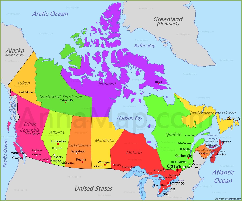 Lethbridge Canada Map Canada Map | Map of Canada   AnnaMap.com