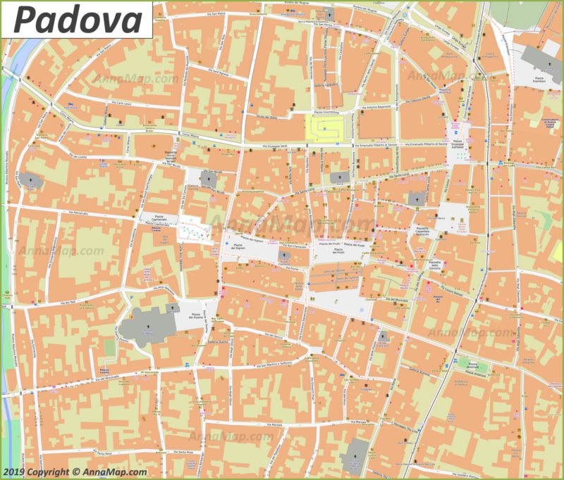 Map of Padova Old Town