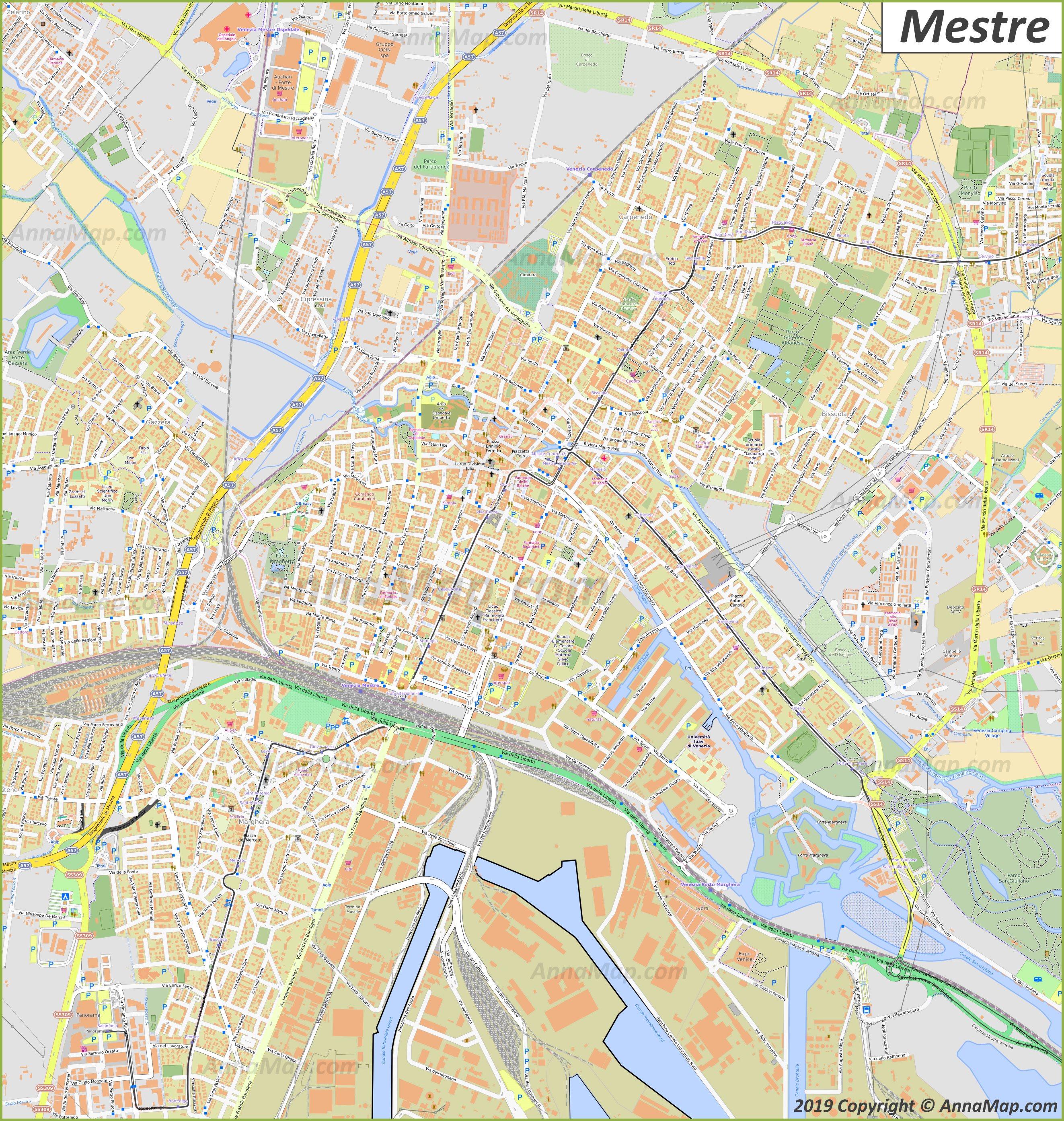 Cartina Venezia Dettagliata.Mappe Turistiche Dettagliate Di Venezia Italia Mappe Stampabili Gratuite Di Venezia Annamappa Com