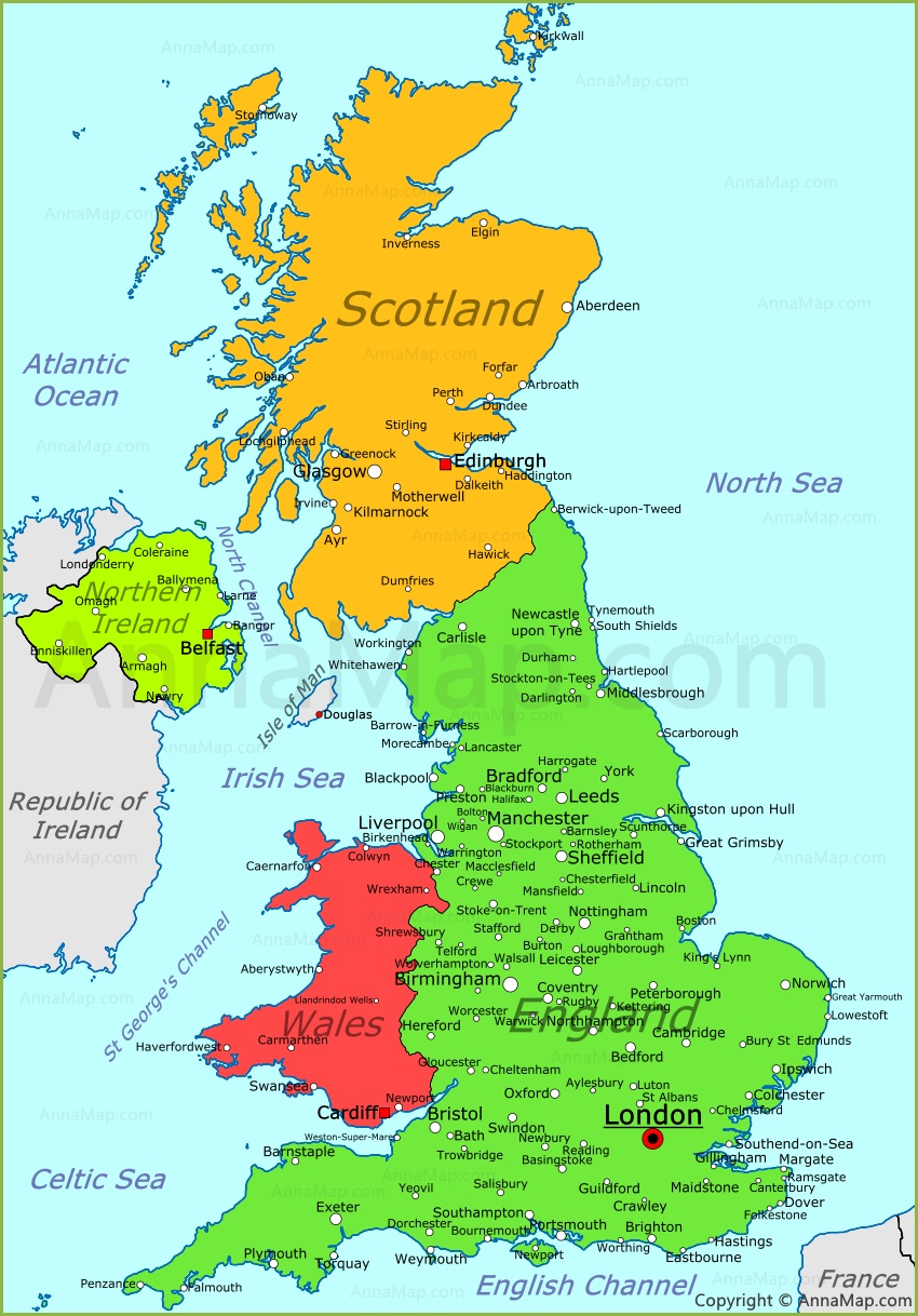 Map Of Gb United Kingdom Map | UK political map   AnnaMap.com Map Of Gb