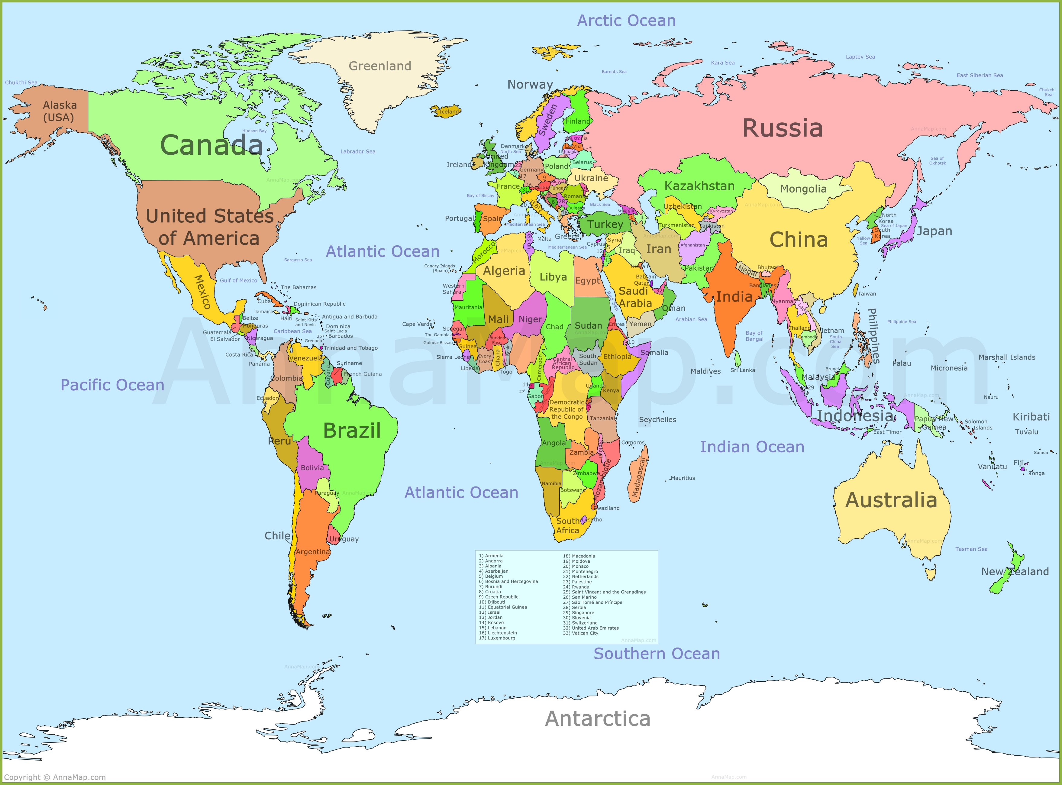 Picture of: World Map Annamap Com